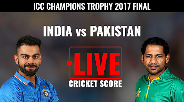 India vs Pakistan Final Live Score, ICC Champions Trophy 2017