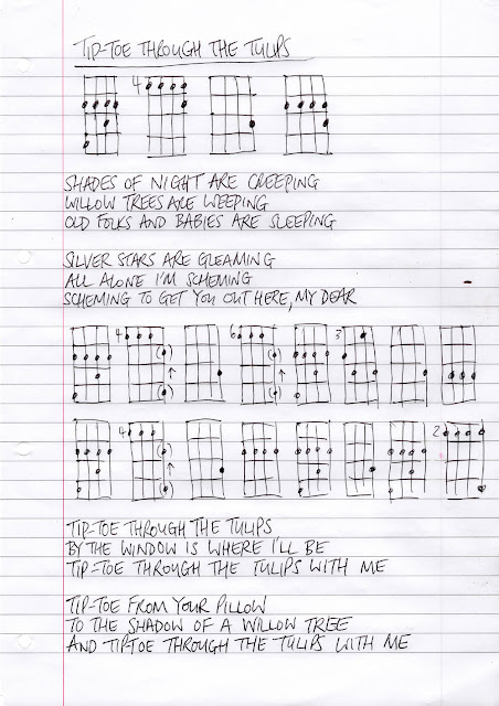 Tiptoe through the tulips uke chords.