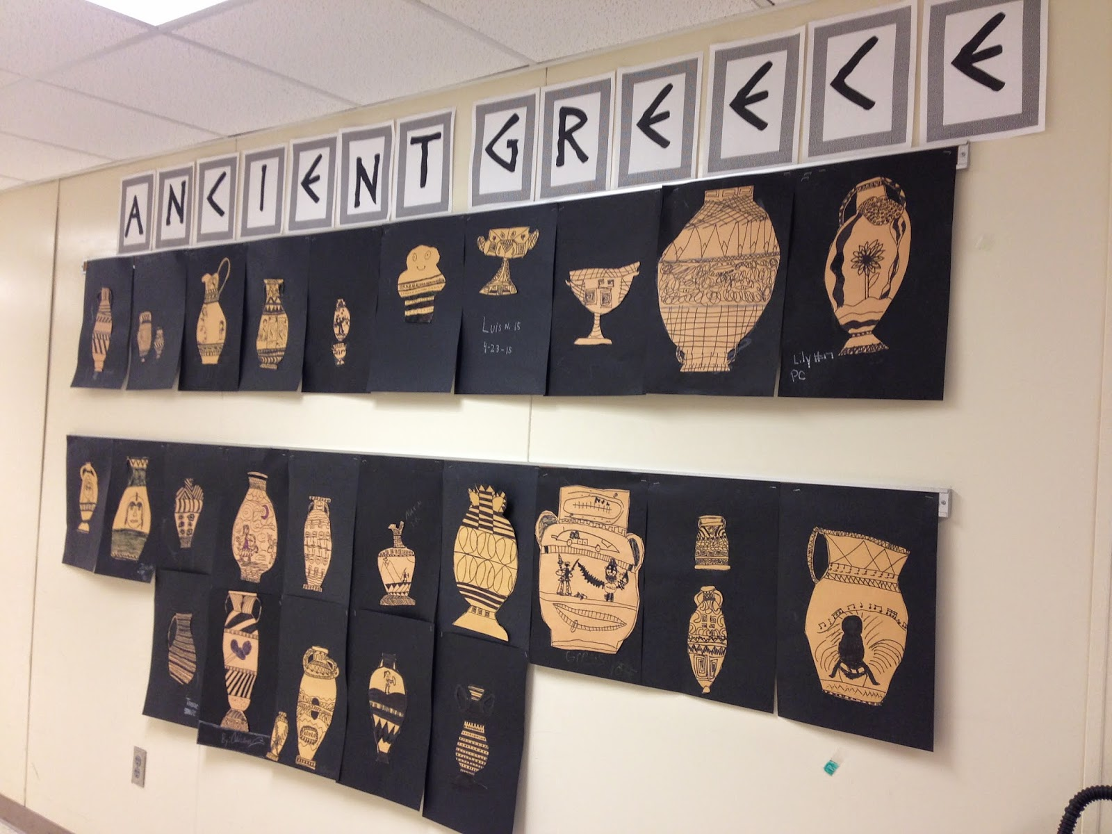Ancient Greece pottery craft activity