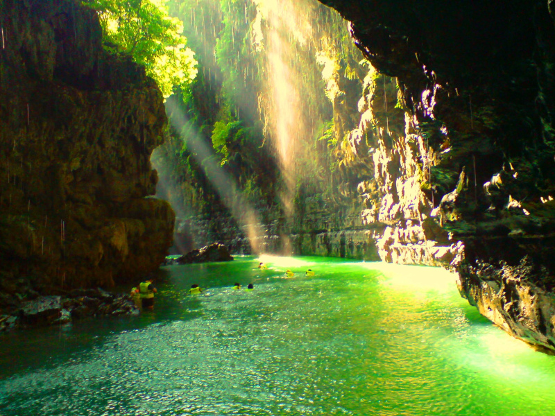 Green Canyon (Cukung Taneuh) from Ciamis, West Java, Indonesia