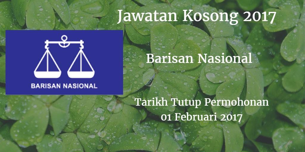 Jawatan Kosong Barisan Nasional 01 Februari 2017