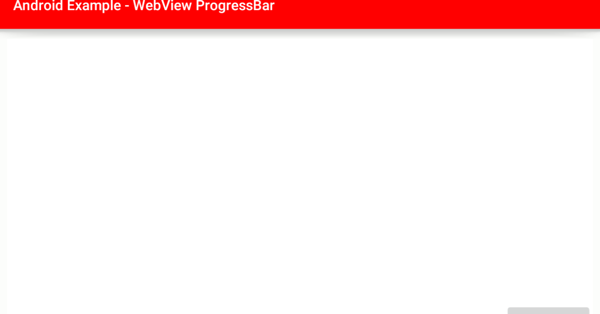android - Display ProgressBar while loading in WebView