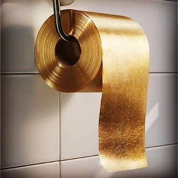 The Gold Toilet Paper Roll