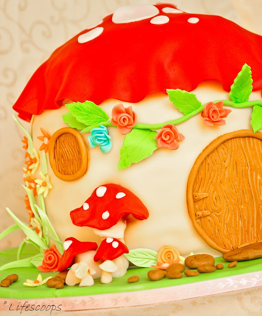 """Life Scoops: """"Toadstool House"""" - Red Velvet Cake with ..."""