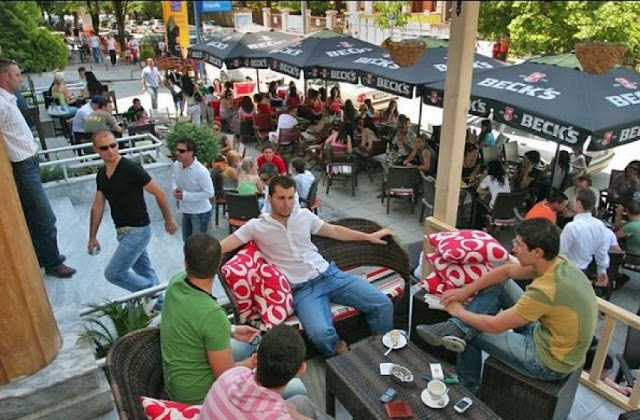 Albania ranked first in the World for the number of Bars and Restaurants per inhabitant