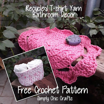 http://www.simplychiccrafts.com/crochet/recycled-t-shirt-yarn-bathroom-decor/