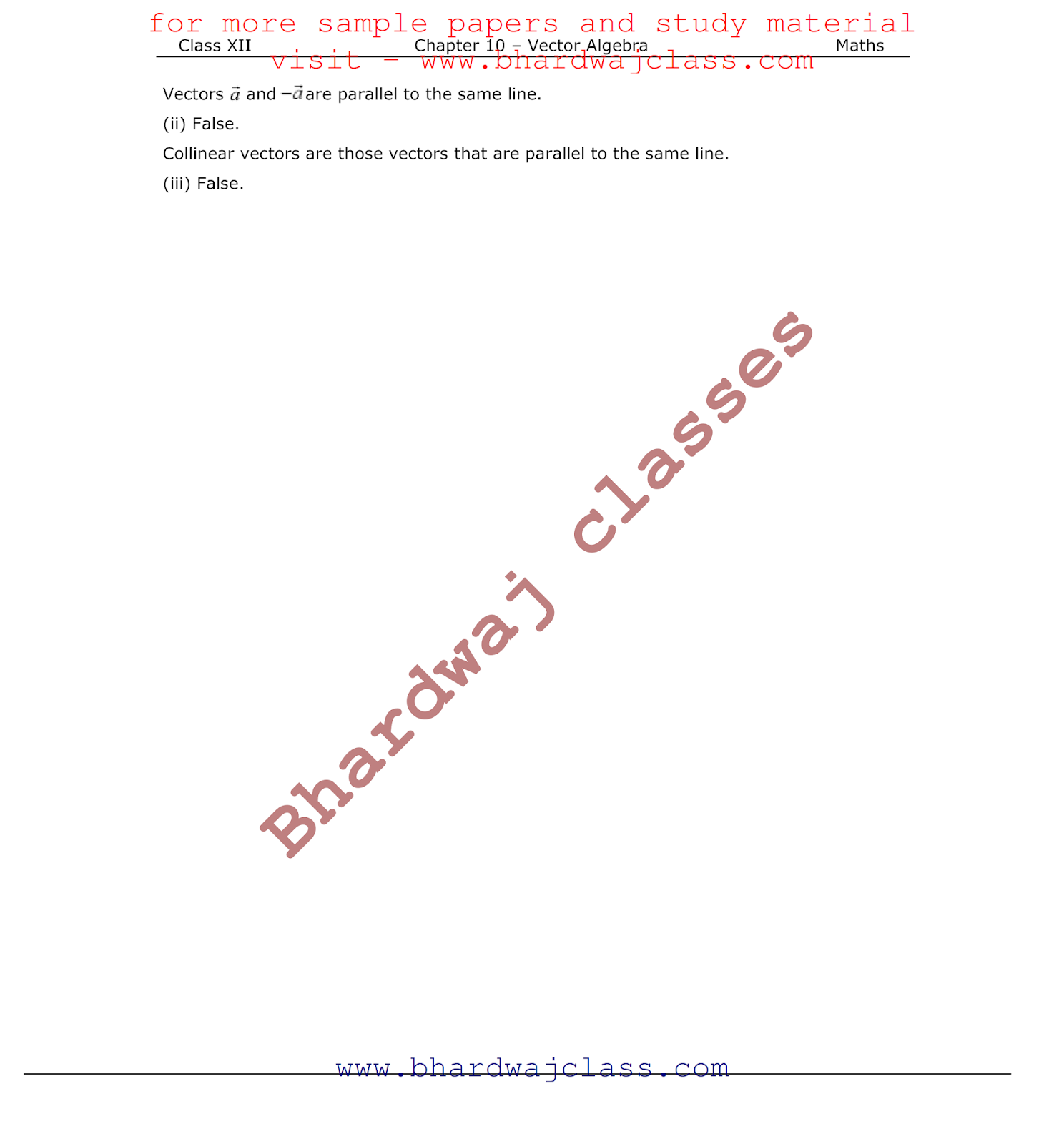 Solutions pdf ncert vectors