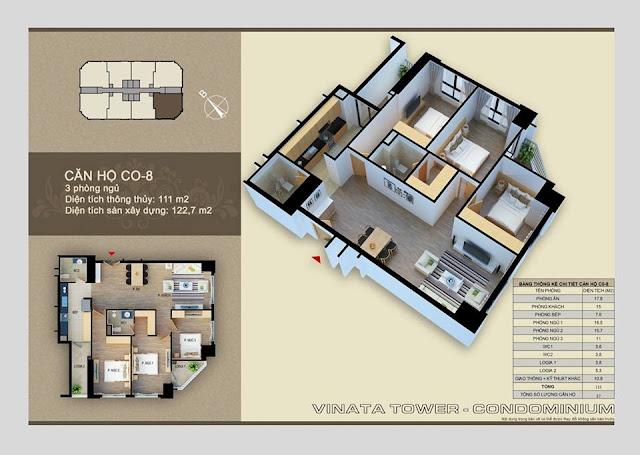 Thiết kế căn hộ 08 chung cư Vinata Towers