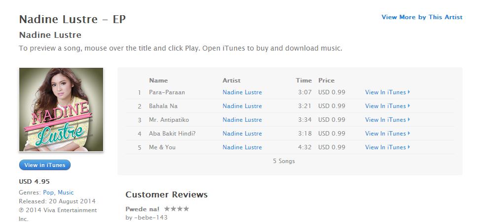 Nadine Lustre Fanatic: Where To Buy Nadine Lustre Album Online