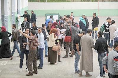الأساتذة الإحتياطيون يحتجون في مدينة تيزي وزو الجزائرية