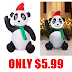 3.5 Foot Tall Airblown Inflatable Panda $5.99 + Free Pickup At Walmart