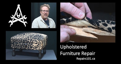 Title card for upholstery repair video