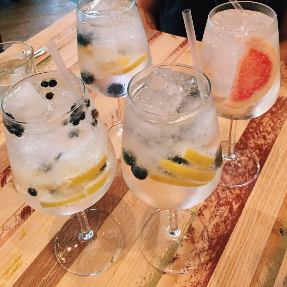 Luxury juniper berry gin at Kith and Kin Chapel Allerton Leeds