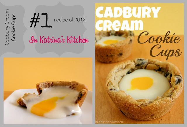 Cadbury Cream Cookie Cups Top #recipe 2012 inkatrinaskitchen.com @katrinaskitchen