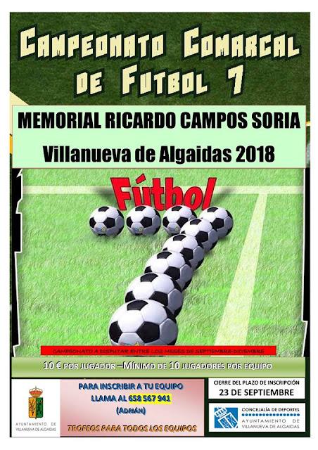 Campeonato de Fútbol 7 en Villanueva de Algaidas