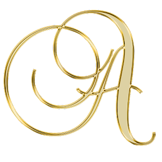 Elegante Alfabeto Dorado.