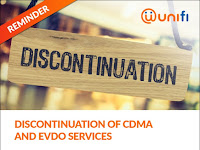 Discontinuation of CDMA & EVDO services latest by 18 March 2018