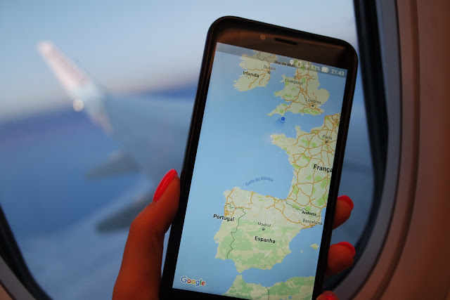 I went to the uk! - google maps on the plane back home- Dreams&Lashes