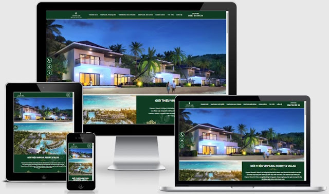 Template blogspot làm website tổng cho bất động sản