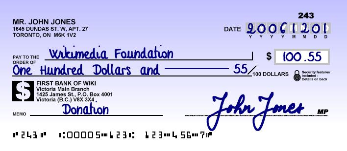 comment remplir cheque quebec