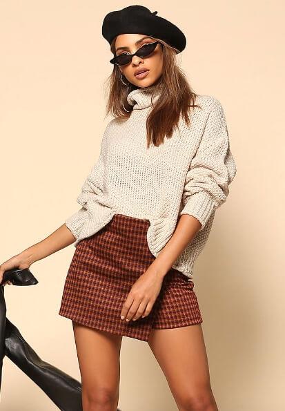 Love Culture oatmeal turtleneck sweater