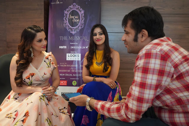 With noted television actress Kanika Maheshwari and singer-actor Pratibha Singh Baghel at the trailer launch of Umrao Jaan Ada - The Musical