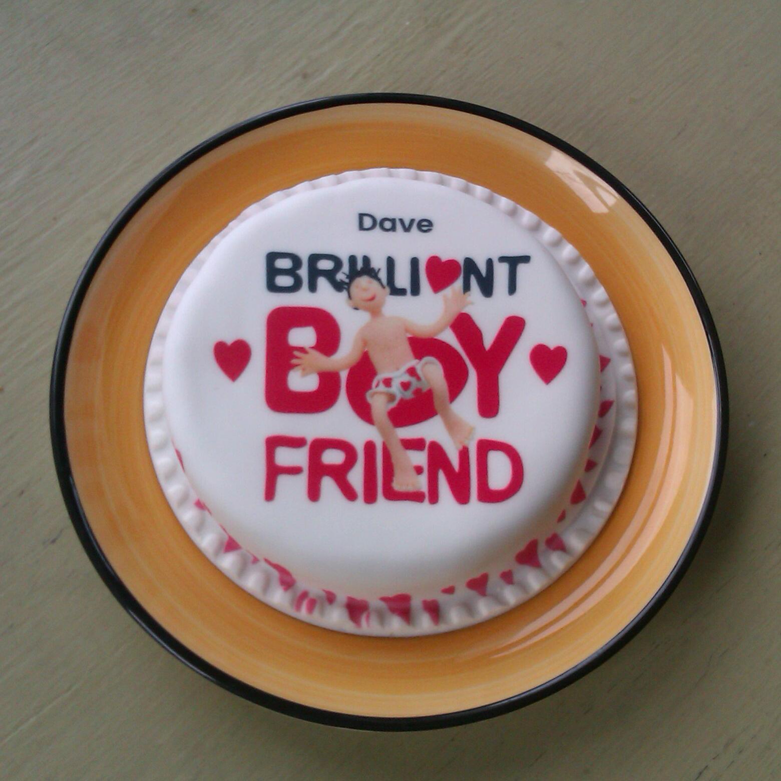 Stephanie Jane Receiving A Brilliant Boyfriend Bakerdays Cake
