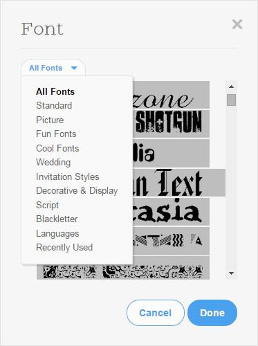 Font Selection Dialog