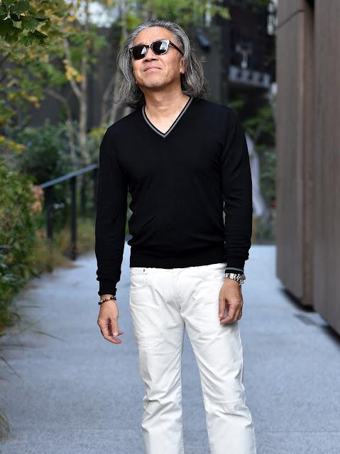 大人のメンズ白黒ファッション