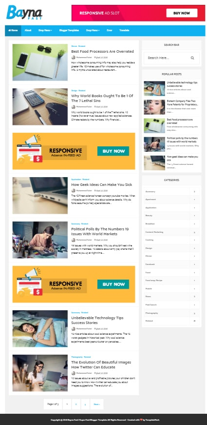 bayna fast blogger template 2018