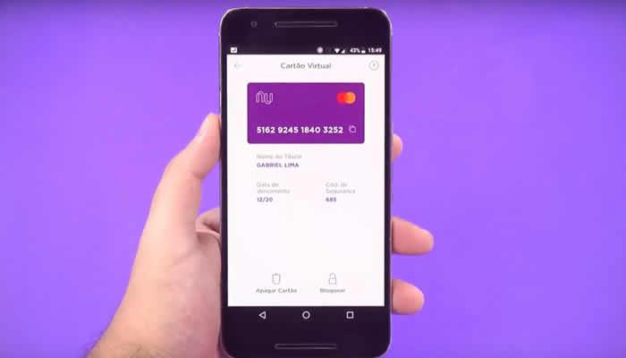Como funciona o cartão virtual Nubank