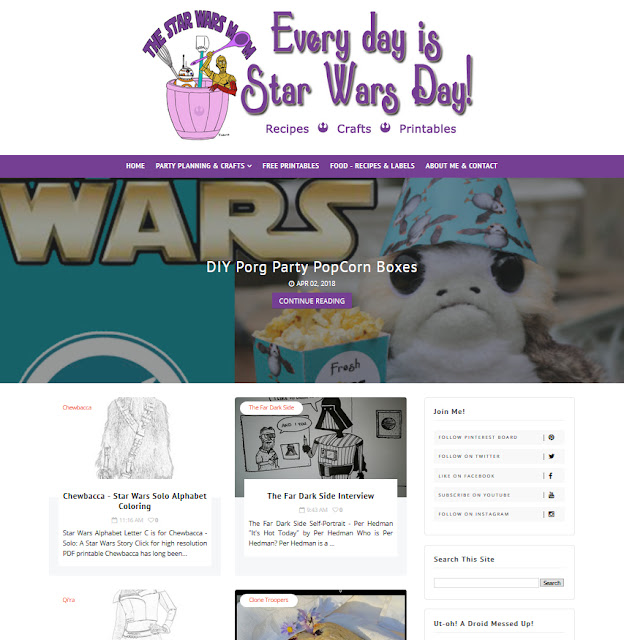 The Star Wars Mom Website Design by Julianne of Bratiful Creative Solutions