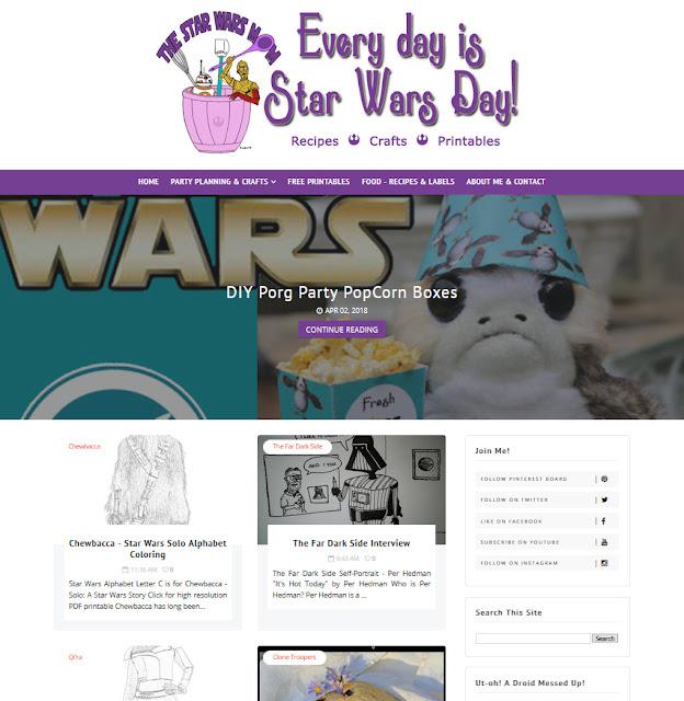 The Star Wars Mom Website Design by Julianne of Bratiful Creative Solutions