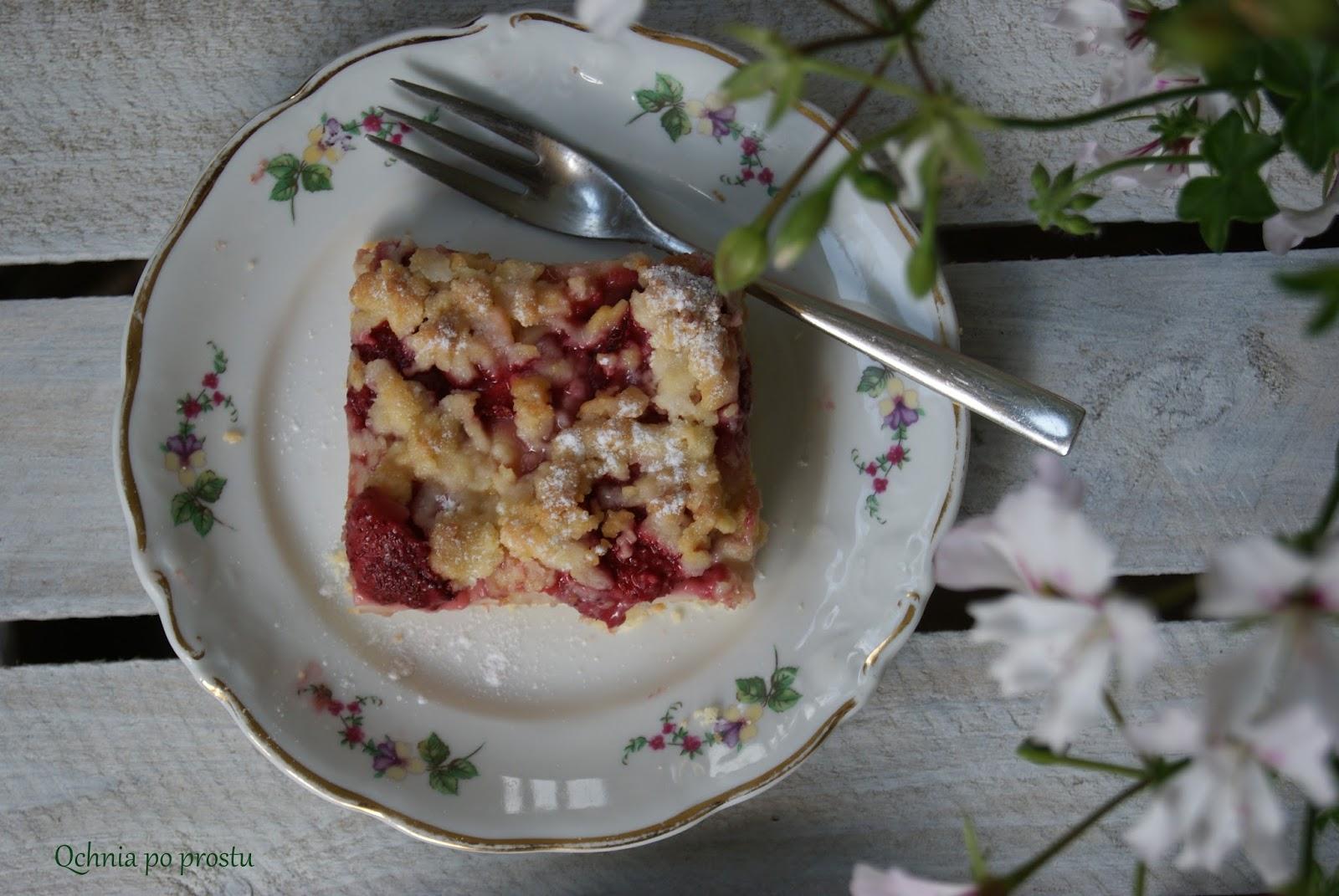 Qchnia po prostu Kruche ciasto z budyniem i truskawkami -> Qchnia U Orzecha
