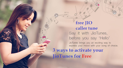 How to activate or Setup Jio Caller Tunes for free, up to 1 month