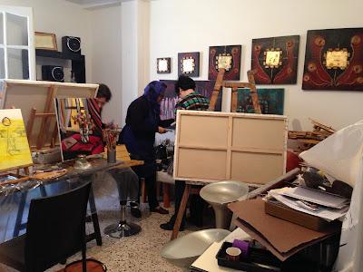 Les retrouvailles des artistes de l'atelier Artemisia 5