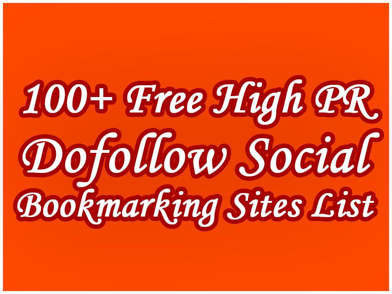 Free Top 100+ High PR Dofollow Social Bookmarking Sites List