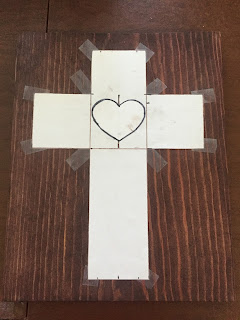 Cross with Heart Sting Art