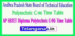 AP SBTET Diploma Polytechnic C-96 Time Table