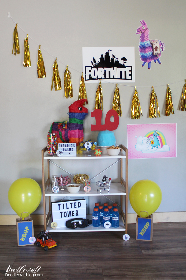 Fortnite Themed Birthday Party Ideas DIY!