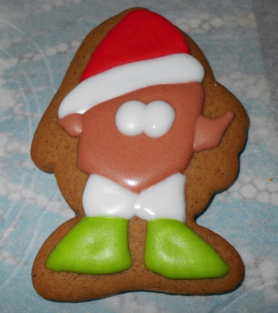 how to make an elf christmas cookie step by step tutorial jellybeantrail