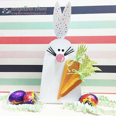 SVG Attic: Easter bunny with Angeline #svgattic #scrappyscrappy #jgwhappyeaster #easter #easterbunny #svg #cutfile #3dproject