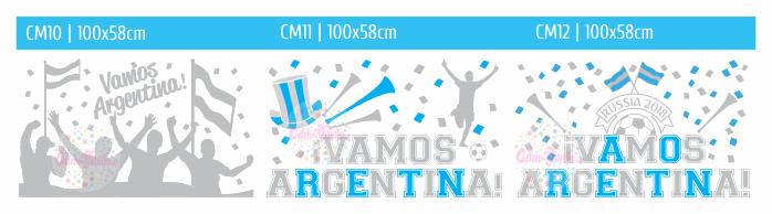 vinilos ploteo vidriera mundial 2018 rusia argentina futbol