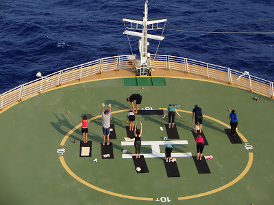Oasis of the Seas Helipad Yoga