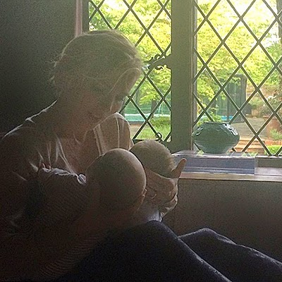 Elsa Pataky with newborn babies