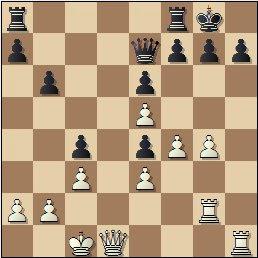 Partida de ajedrez Juncosa vs. Golmayo, Torneo Nacional de Murcia 1927, posición después de 28…dxe4