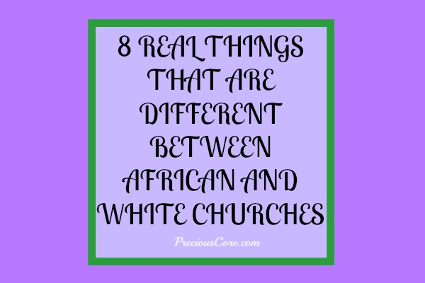 difference between black and white church