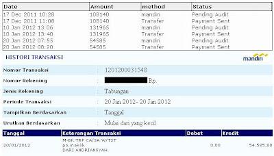 Payout ke-2 dari IndonesianKlik