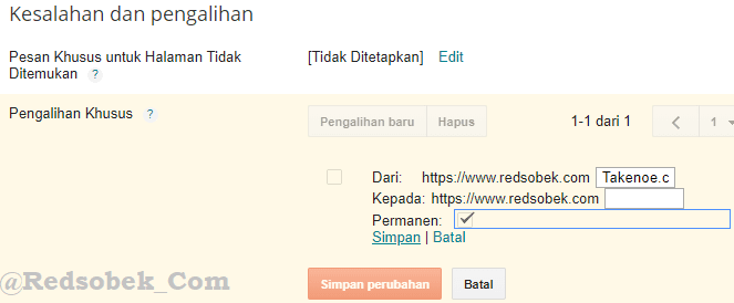 Redirect Pengalihan Link Blog