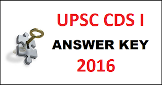 UPSC CDS 1 2016 Answer Key www.upsc.gov.in